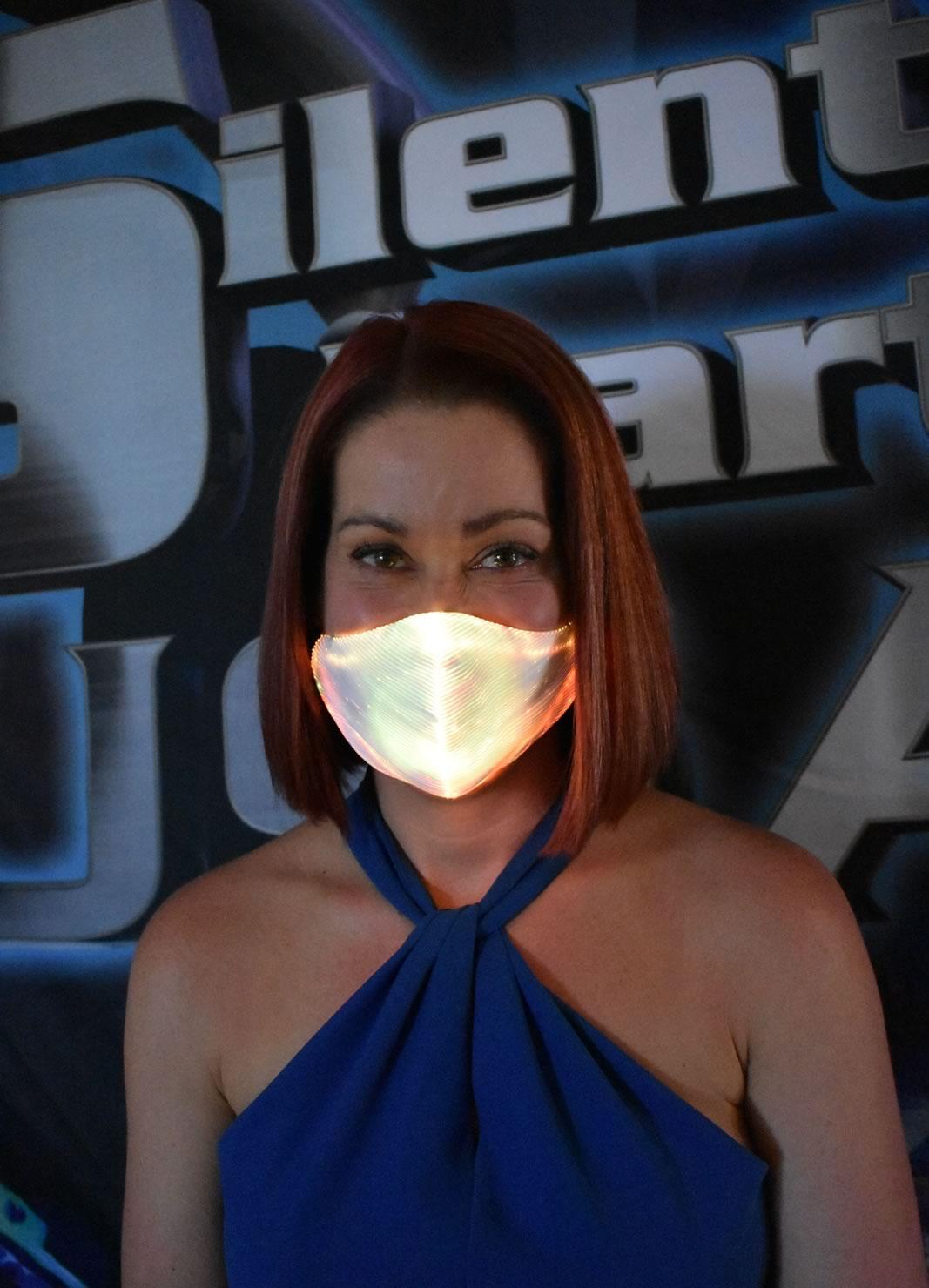 Amber LED Mask - Silent Party USA
