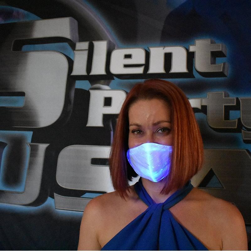 Blue LED Mask - Silent Party USA