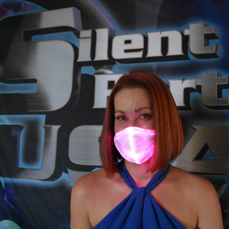 Pink LED Mask - Silent Party USA