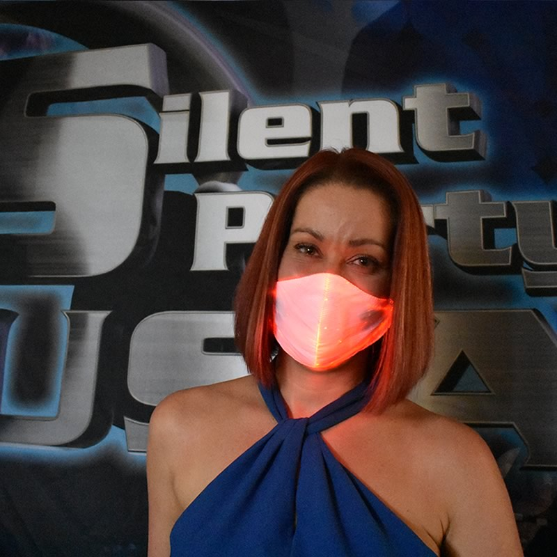 Red LED Mask - Silent Party USA